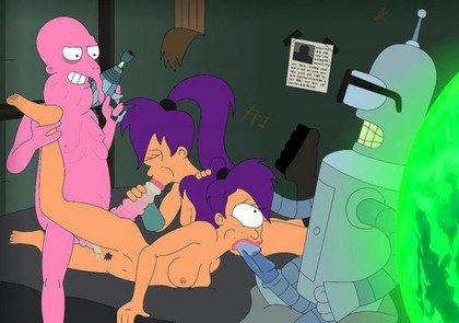 Fry and leela have sex video